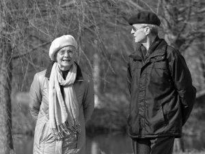 couple, age, woman