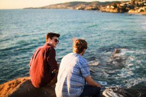 friends, sky, landscape